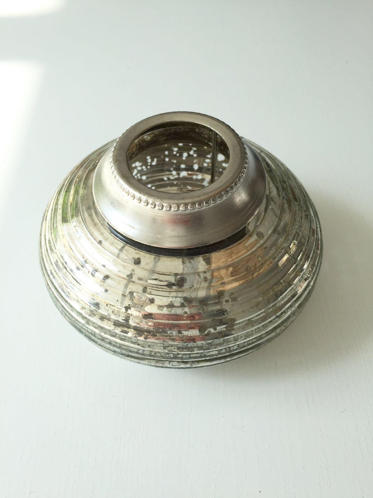 Waxine houder van oud zilver